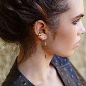 9ct Gold Cartilage Earrings